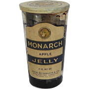 Vintage Monarch Apple Jelly Jar