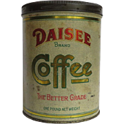 Daisee Brand Litho Coffee Tin