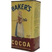 Baker's Breakfast Cocoa Container