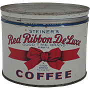 Red Ribbon Deluxe Coffee Can