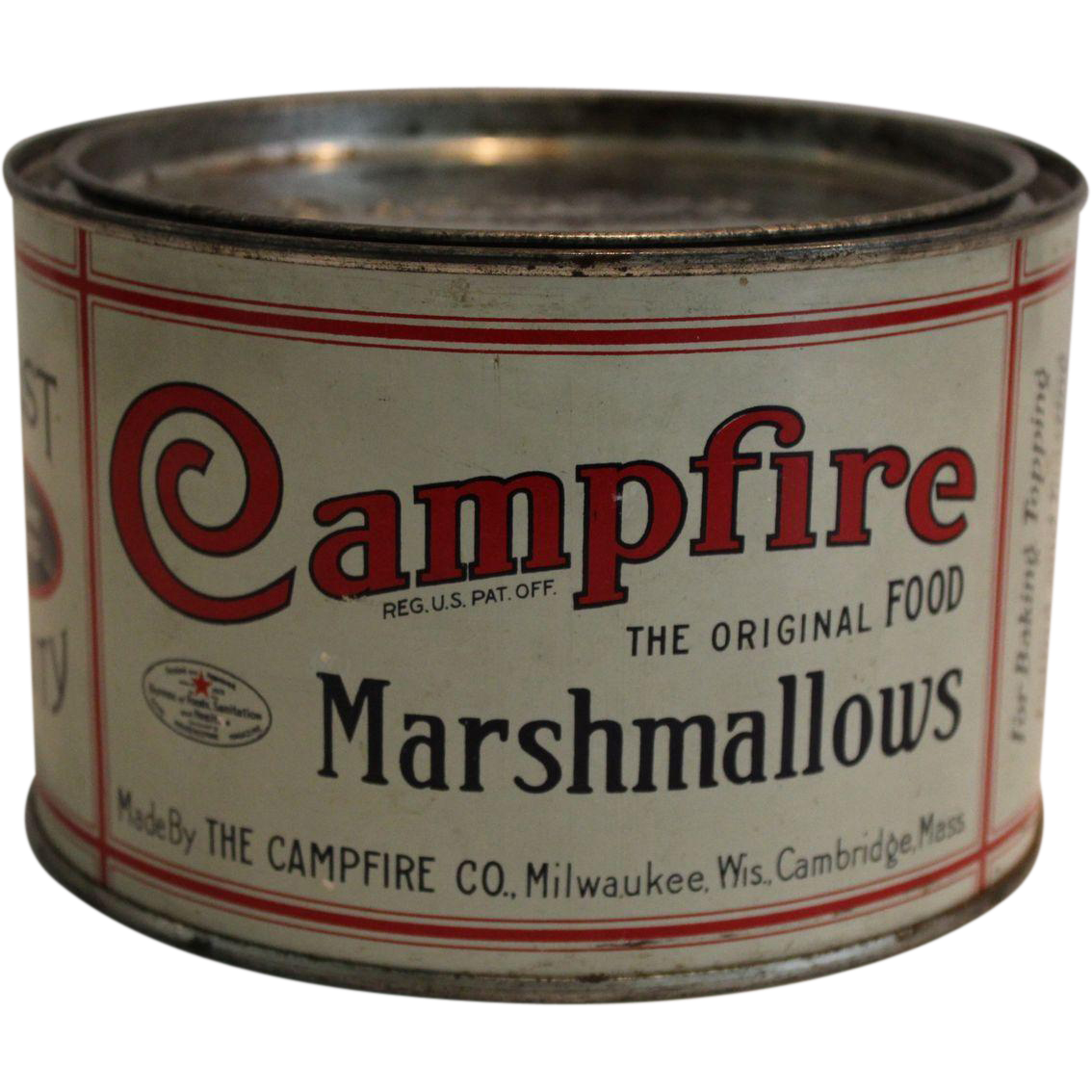 Small Campfire Marshmallows Tin from thecuriousamerican on ...