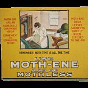 Moth-ene Cardboard Advertising Sign