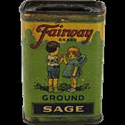 Fairway Ground Sage Spice Container
