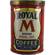 "Royal ""M"" Brand Coffee Tin"