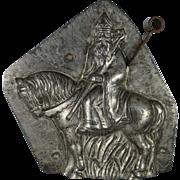 Anton Reiche St. Nicholas on a Horse Chocolate Mold