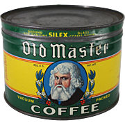 Vintage Old Master Coffee Tin