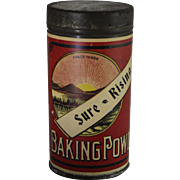 Vintage Sure-Rising Baking Powder Container