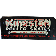 Embossed Kingston Roller Skates Metal Sign