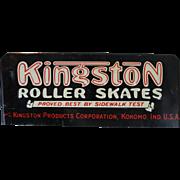 Embossed Kingston Roller Skates Metal Sign