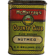 McMurray's Country Club Nutmeg Spice Container