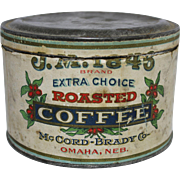 "J.M. ""1846"" Roasted Coffee Tin"