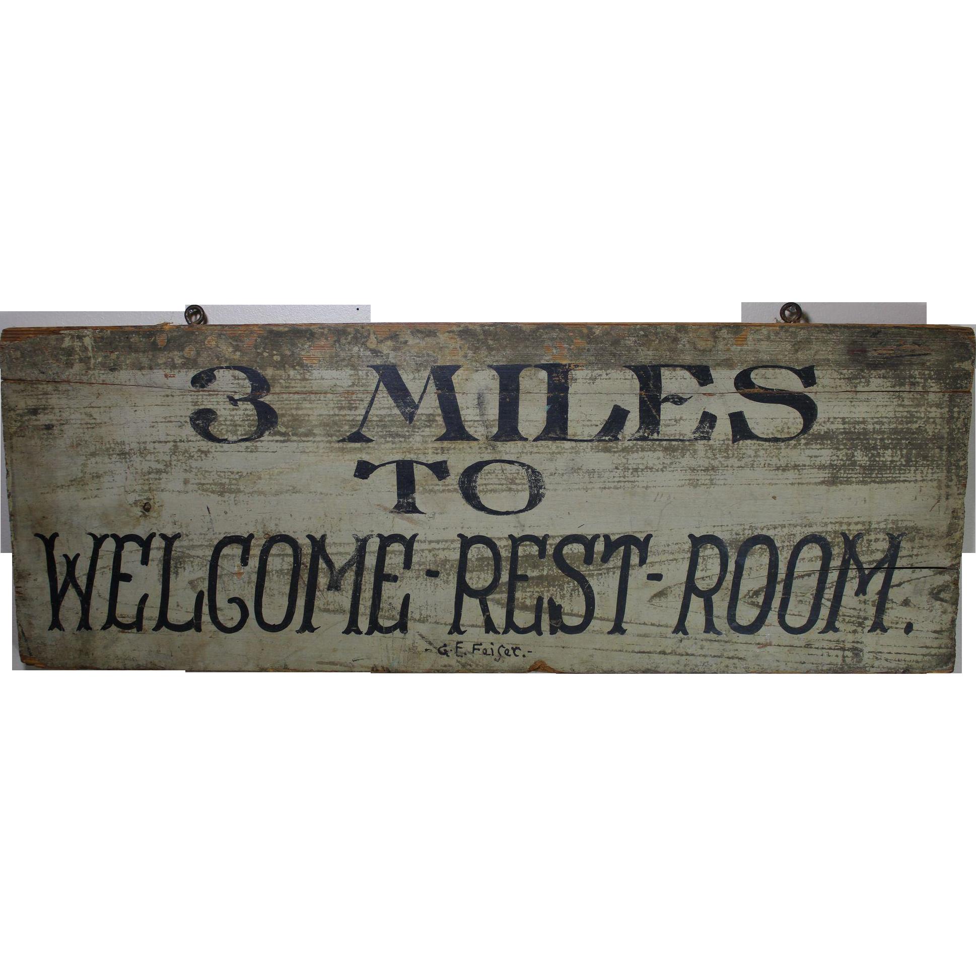 Vintage Wooden Sign 61