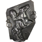Vintage Indian on Horse Chocolate Mold