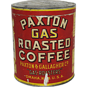 Vintage Paxton Gas Roasted Coffee Tin