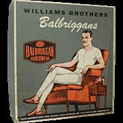"Vintage ""Balbriggans"" Men's Underwear Box and Partial Contents"