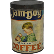 Vintage Jam-Boy Coffee Tin