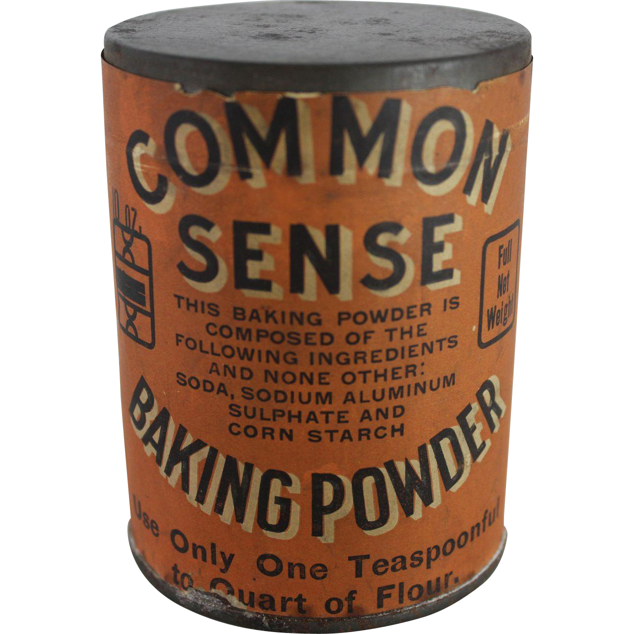 "Vintage ""Common Sense"" Baking Powder Can from ..."