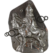 Vintage St. Nicholas on Horse over Rooftops Chocolate Mold