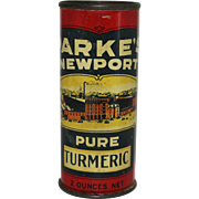 Vintage Parke's Newport Turmeric Spice Tin