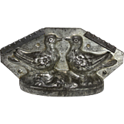 "Vintage ""Two Doves, Love Birds"" Large Chocolate Mold"