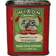 "Vintage ""Wixon"" Turmeric Spice Container"