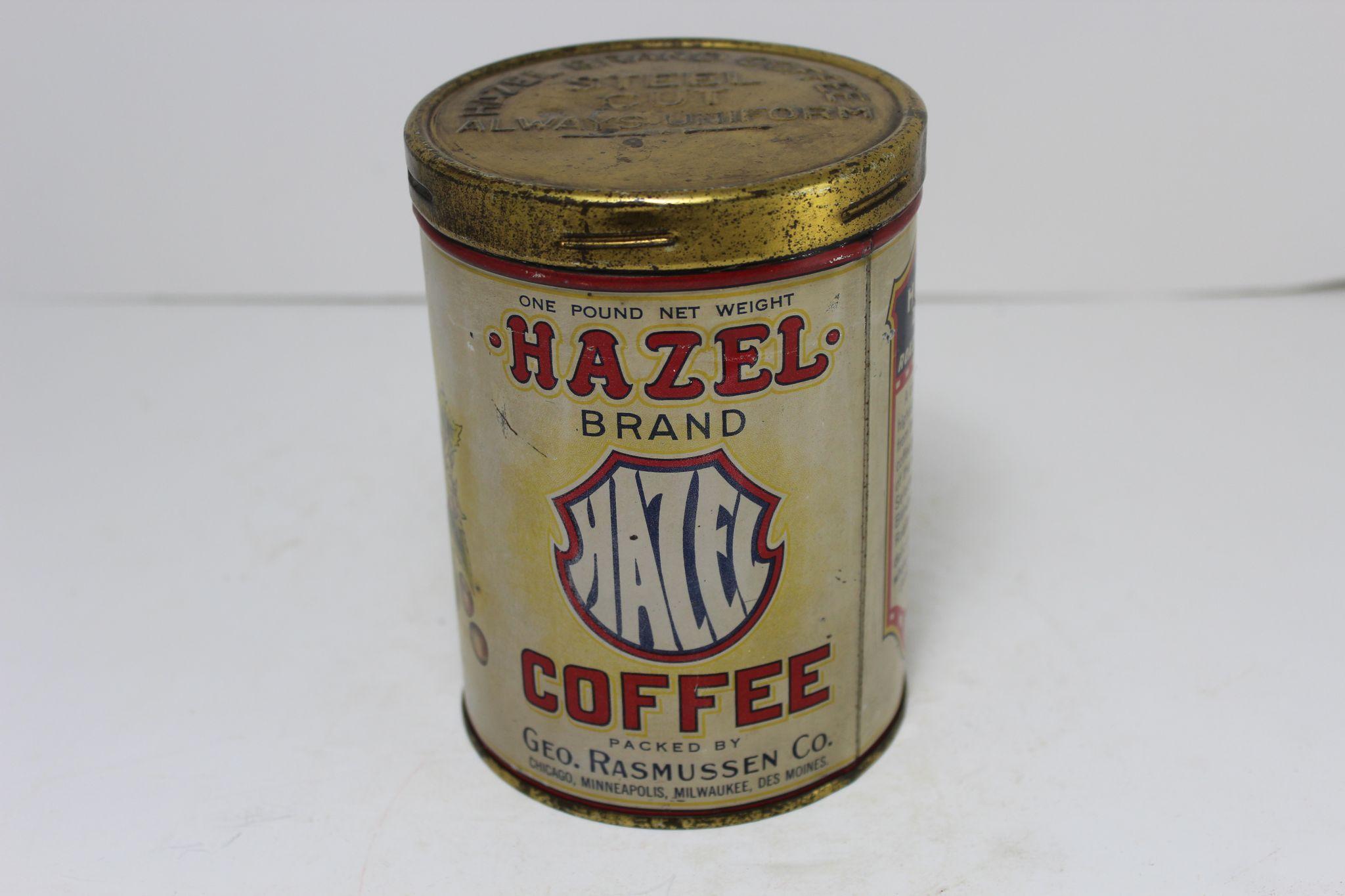 Vintage Hazel Brand Coffee Tin from thecuriousamerican on Ruby Lane