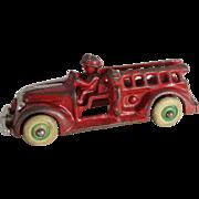 """Small """"Arcade"""" Cast Iron Fire Ladder Truck"""