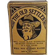 "Vintage Unopened Box of ""Old Settler"" Water Clarifier"