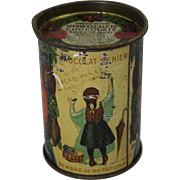 "Rare Vintage Menier's ""Chocolat-Menier Powdered Chocolate"" Tin"