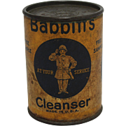 "Vintage Babbitts ""Free Sample"" Cleanser Container"