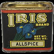 "Vintage ""Iris Brand"" Spice Container"