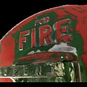 """Vintage """"Gamewell"""" Neighborhood Fire Alarm Box Door"""