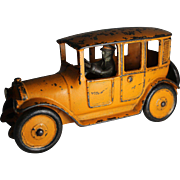 1920's Hubley Cast Iron Yellow Taxicab