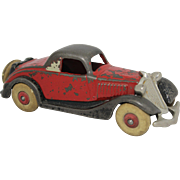 """Hubley 1930's Cast Iron 6"""" Terraplane Coup"""
