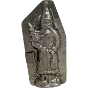 """Vintage Walter Hornlein """"Father Christmas"""" Holding Tree Chocolate Mold"""