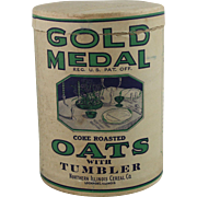 Vintage Gold Medal Coke Roasted Oats Container