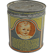 "Vintage ""S.M.A."" Baby's Diet Compound Tin"