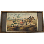 "Vintage ""Little Yankee"" Plow, Framed Paper Advertisement"