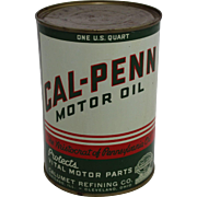 Rare Unopened One Quart Can of Cal-Penn Motor Oil