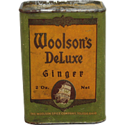 Vintage Woolson's Deluxe Ginger Spice Tin