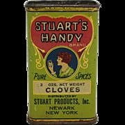 Vintage Stuart's Handy Brand Spice Tin