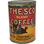 Vintage Thesco Blend Coffee Tin