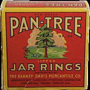 """Vintage Box of """"Pan-Tree Brand"""" Jar Rings"""