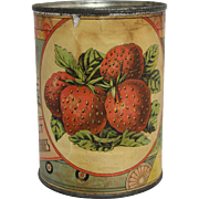 Vintage Premaine's Pride Select Strawberries Tin Can