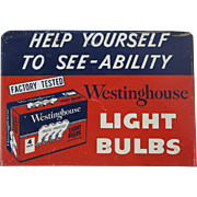 "1940's ""Westinghouse"" General Hardware Store Metal Display Sign"