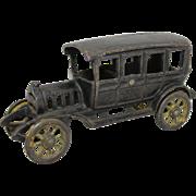 """Vintage Hubley 6 3/4"""" Cast Iron Sedan"""