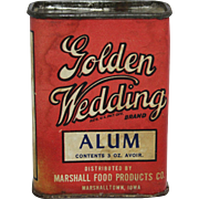 "Vintage ""Golden Wedding"" Spice Container"