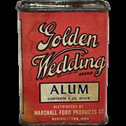 "Vintage ""Golden Wedding"" Spice Container"