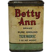 "Vintage ""Betty Ann"" Spice Container"
