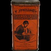 Vintage Dr. J.D. Kellogg's Asthma Remedy Tin